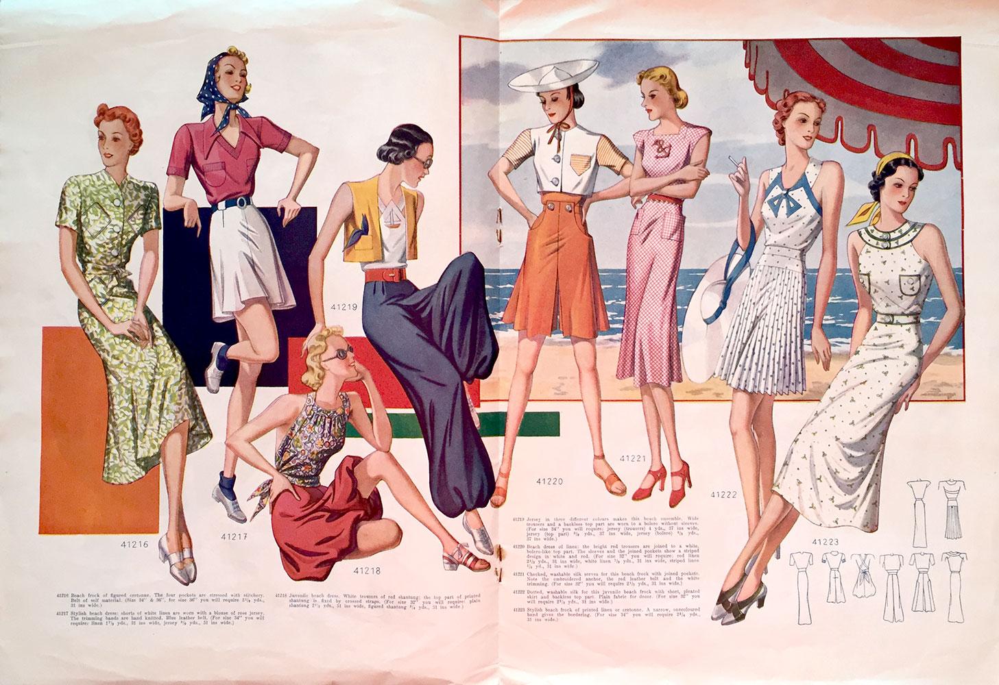 1938 beach wear