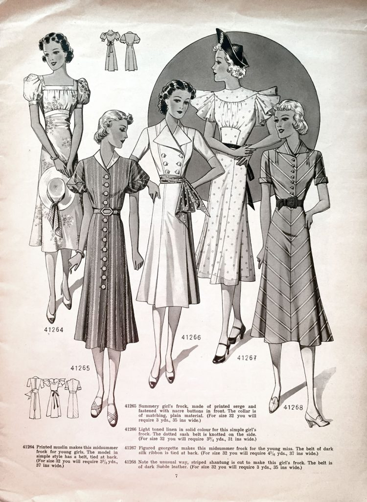 1938 day dresses