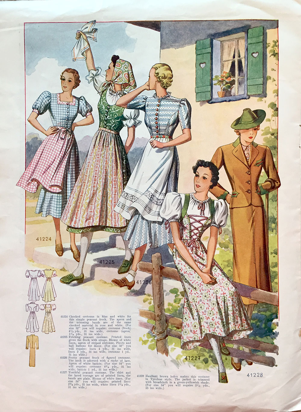 1938 Dirndl dresses