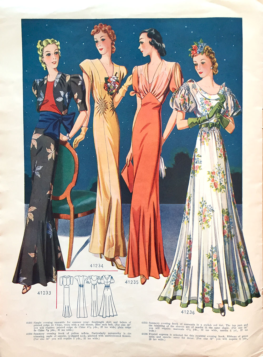 1938 evening gowns