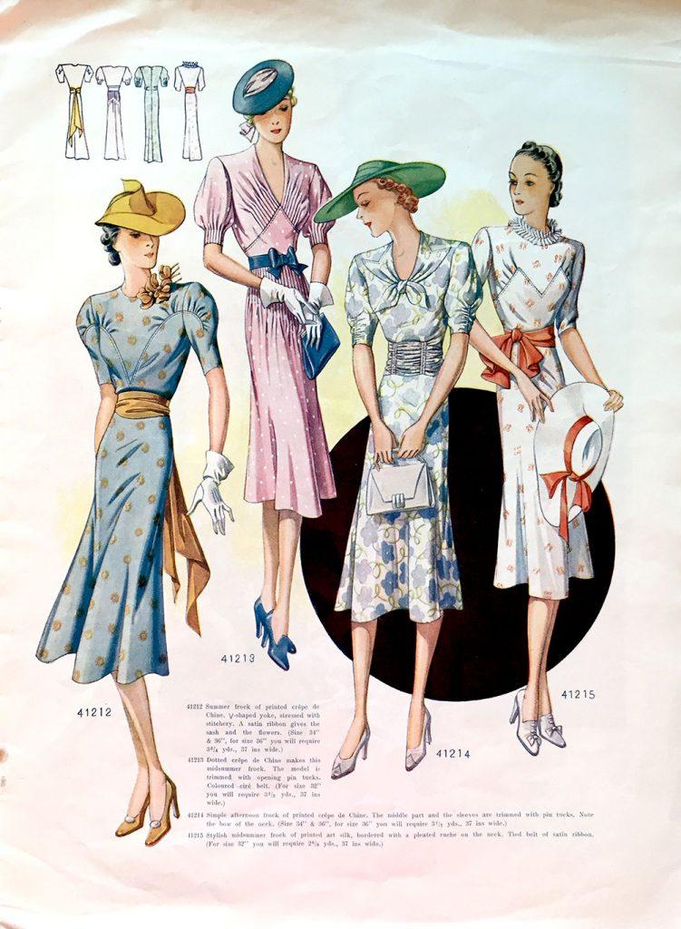 1938 summer dresses