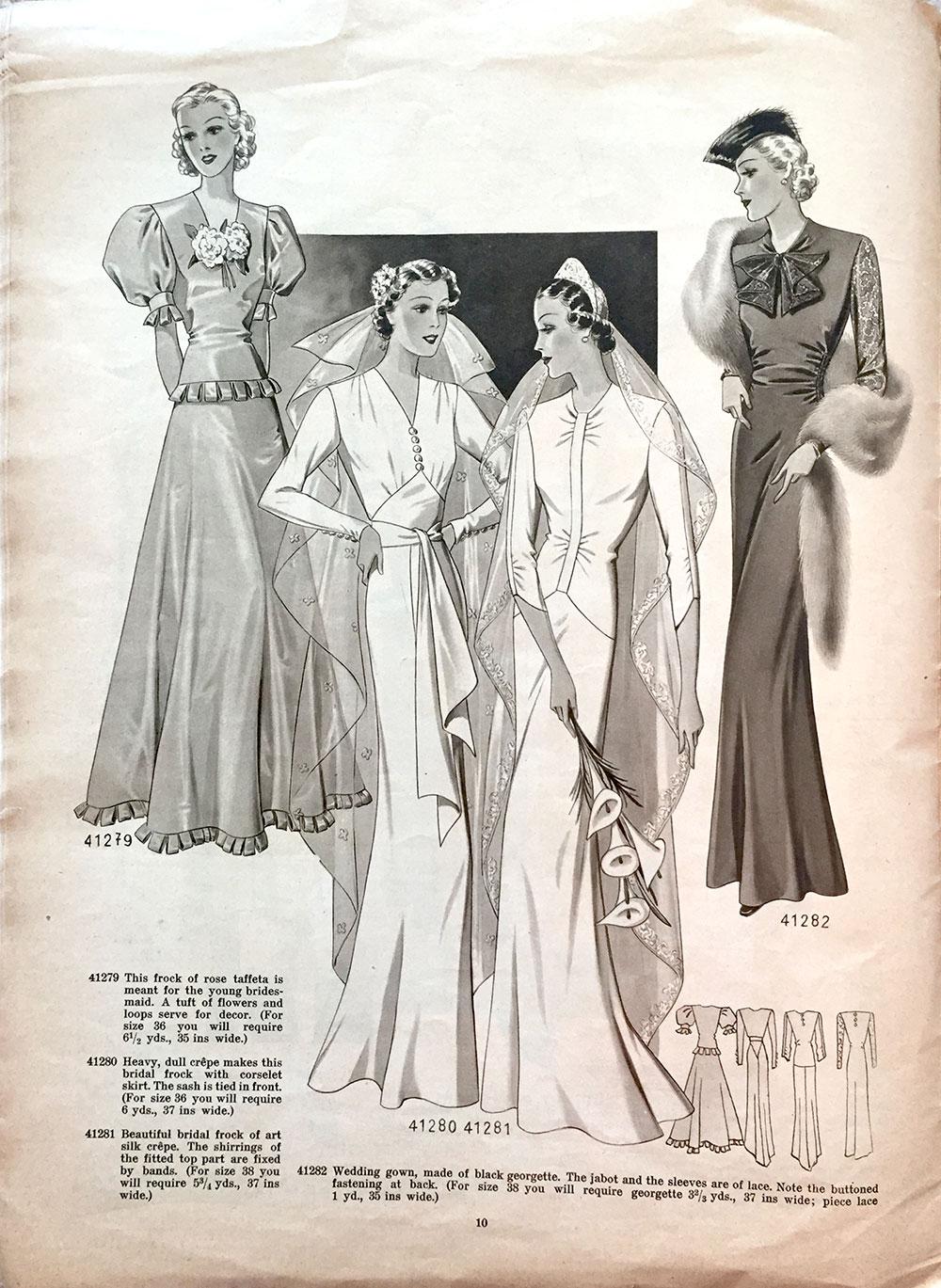 1938 wedding gowns