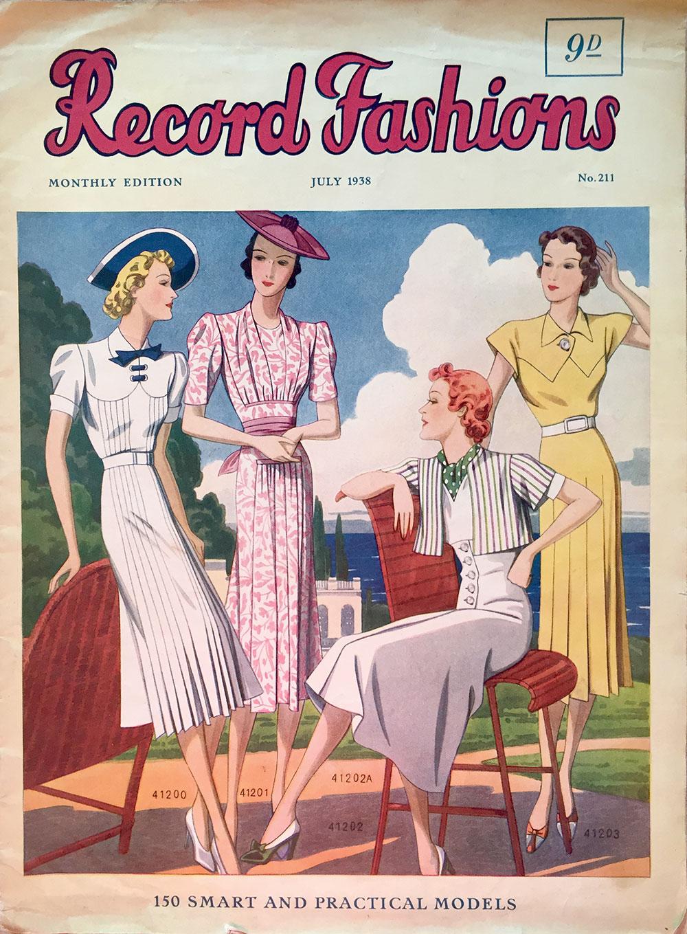 Record Fashions magazine - July 1938