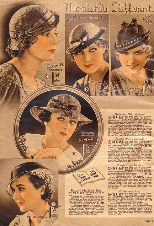1930s hats advert