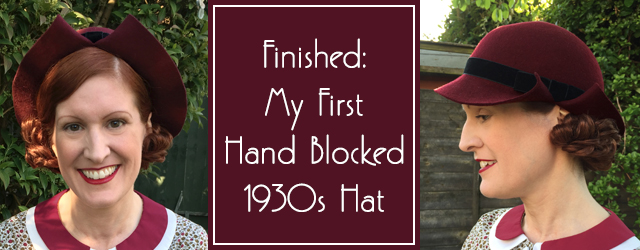Handmade 1930s hat