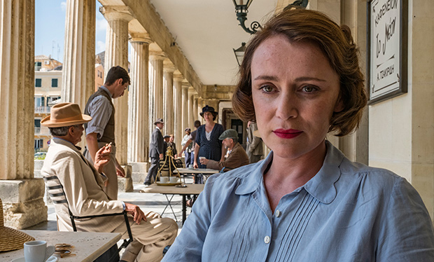 Louisa Durrell blue blouse