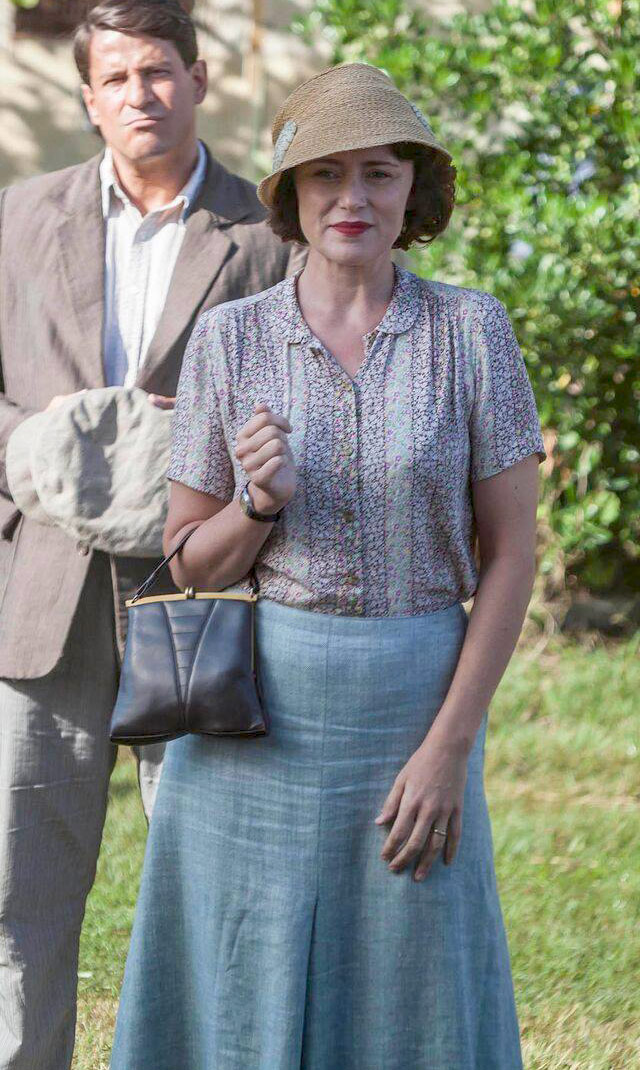 Louisa Durrell blue outfit