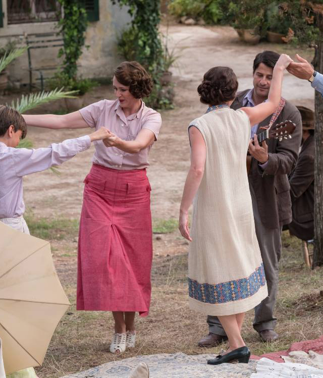 Louisa Durrell pink shirt & skirt