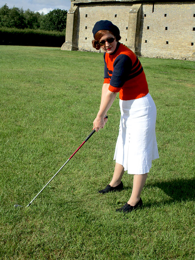 1930s sportswear outfit