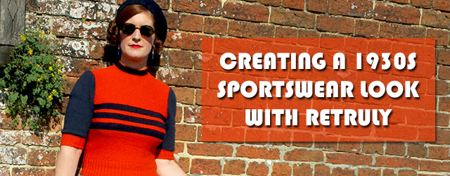 1930s sportswear jumper from Retruly