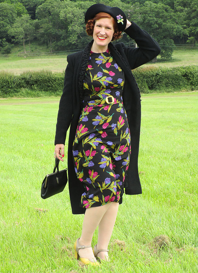 1930s Tulip Dress, Hat & Coat