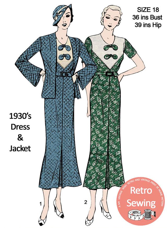 1930s dress pattern