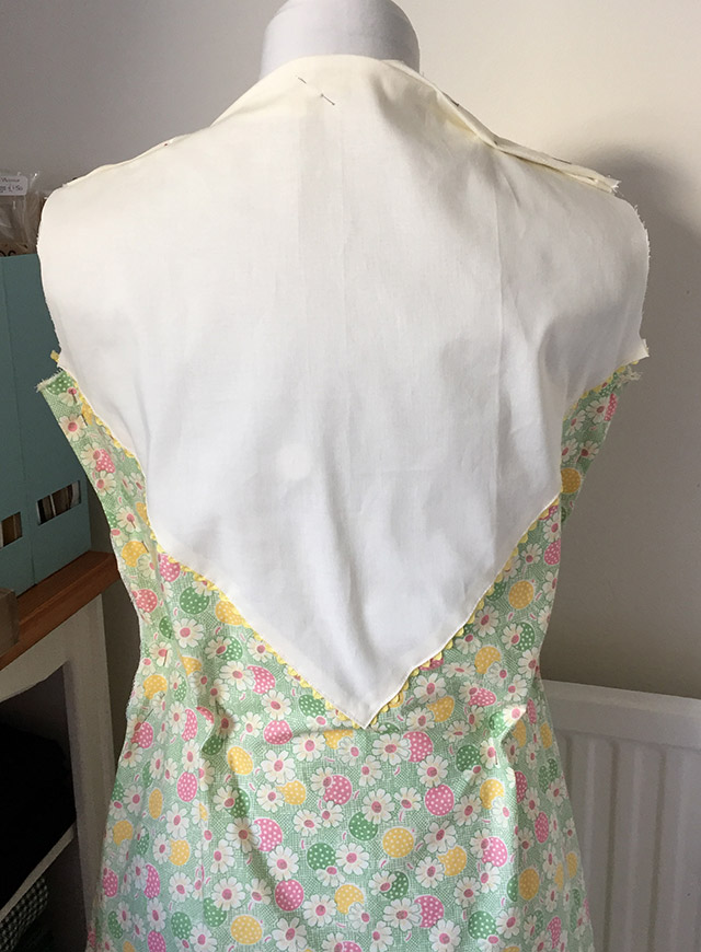 1930s dress yoke back