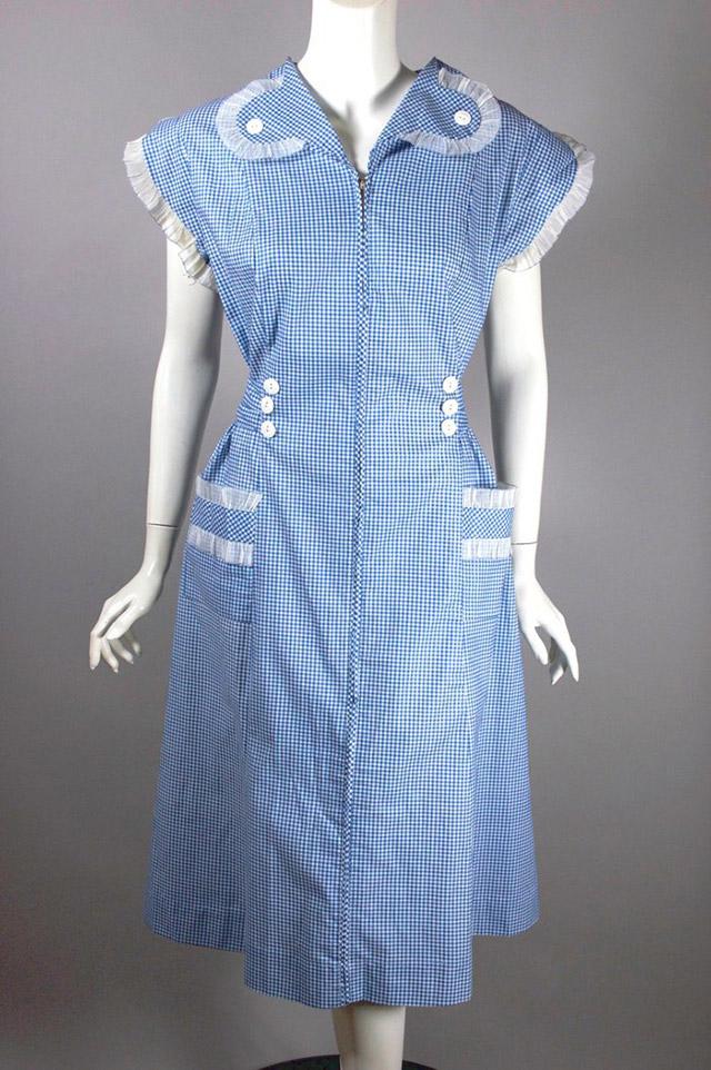 1930s gingham house dress