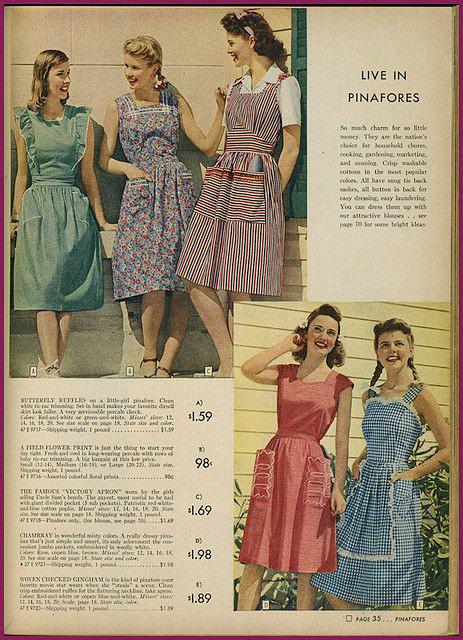 1942 Sears catalogue dresses
