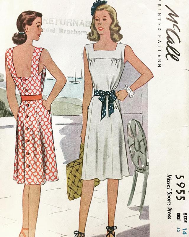 Mccall 1930s pattern 5955