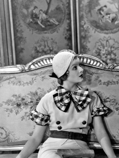 Myrna Loy gingham detail ensemble