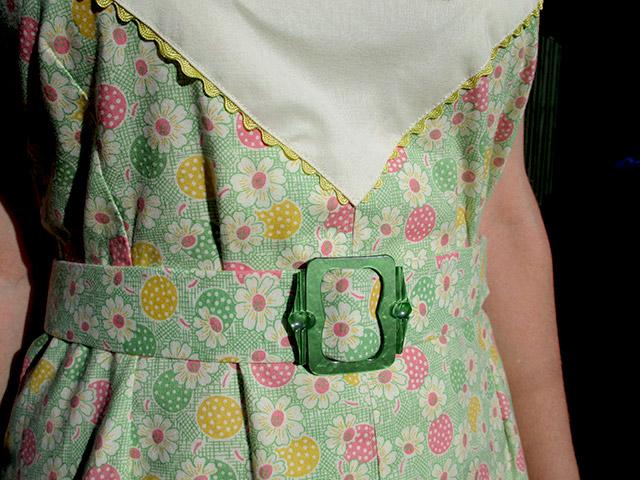 1930s dust bowl dress buckle