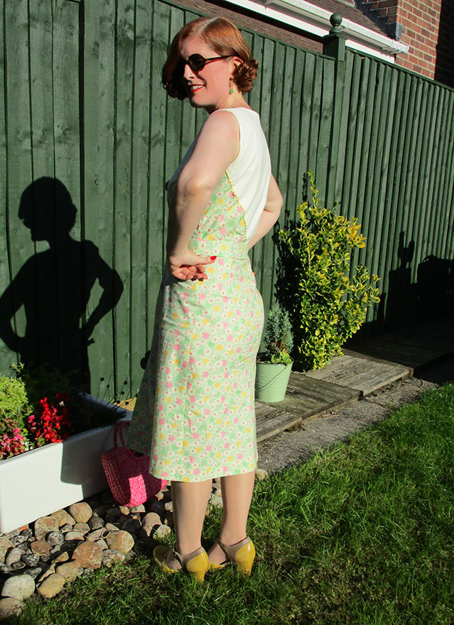 1930s dust bowl dress - back