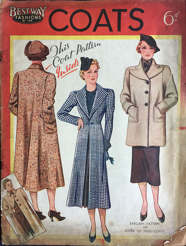 Bestway Fashions Coats sewing pattern magazine - March 1937