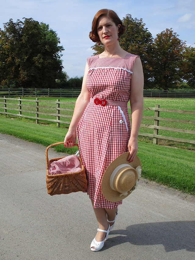 1940s ethically produced dress