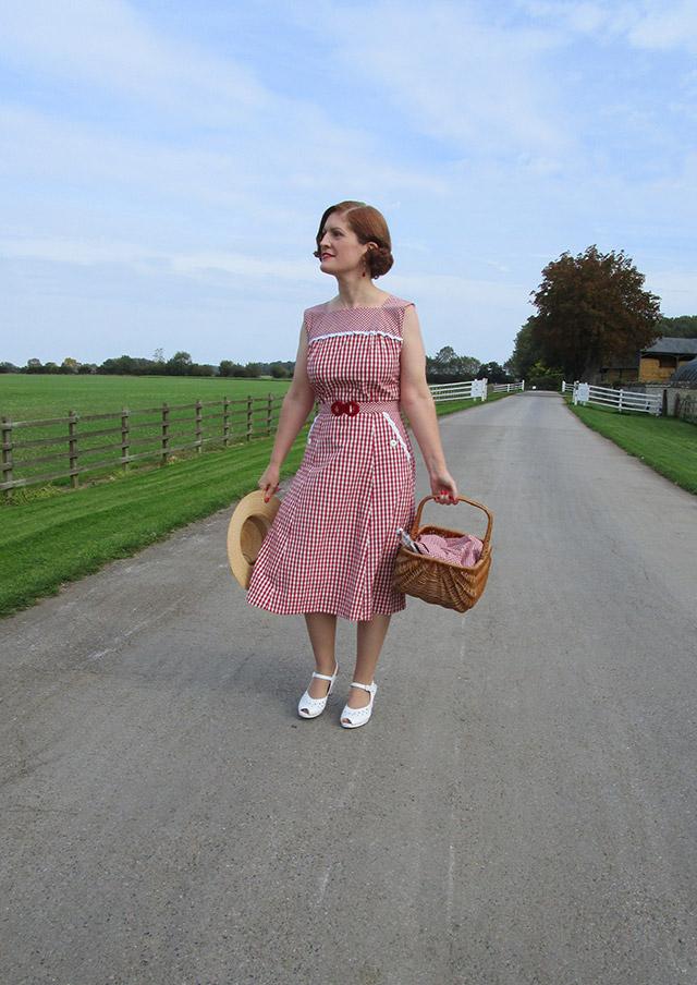1940s organic gingham dress
