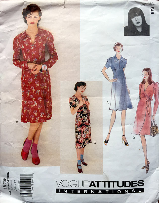 Anna Sui 1990s sewing pattern