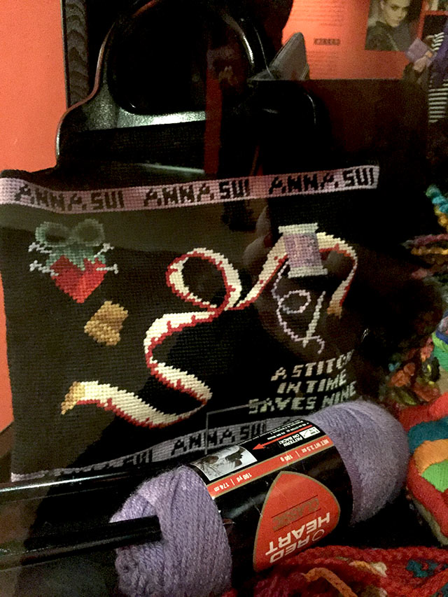 Anna Sui knitting bag