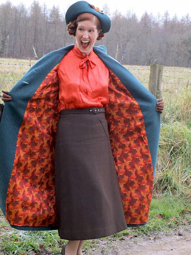1930s outfit - me being silly!