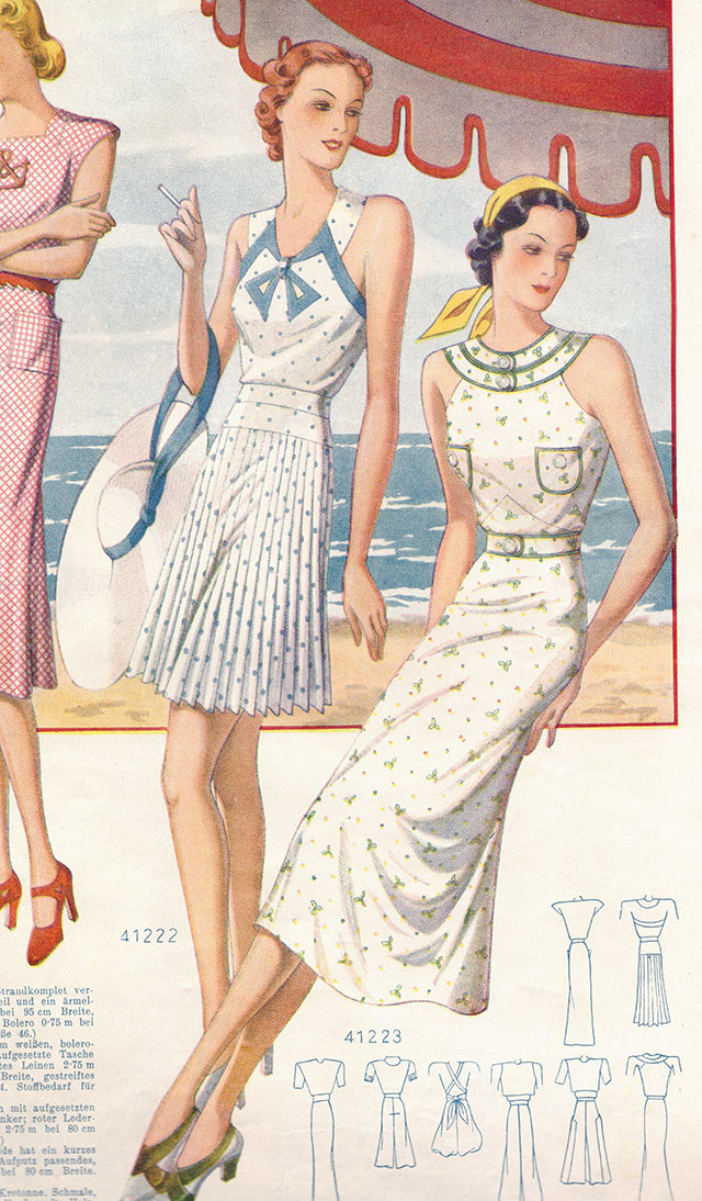 1930s beach wear