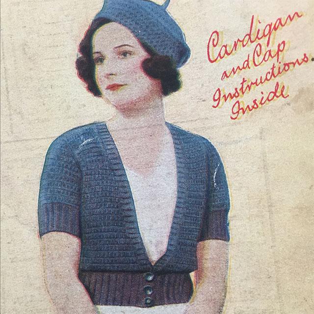 simple 1930s crochet cardigan