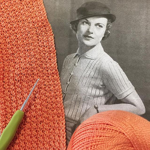 1930s peach cardigan