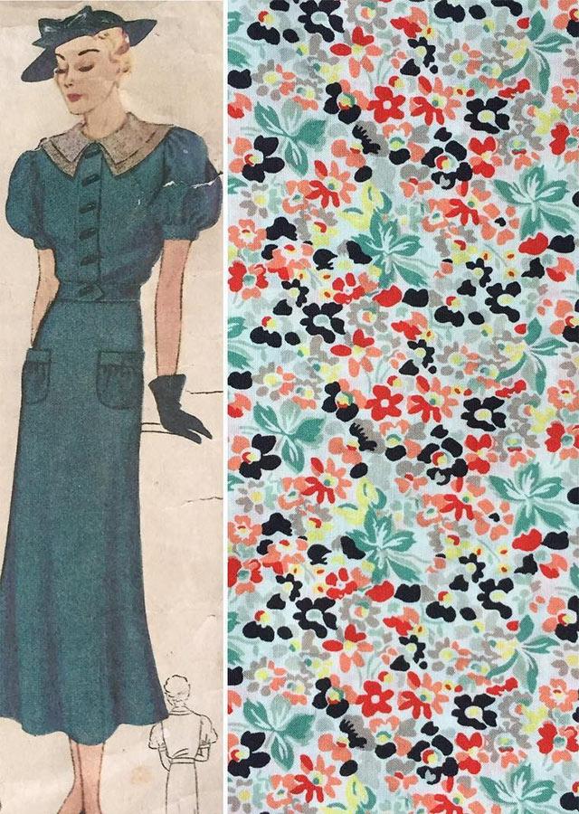 1930s summer dress - Liberty fabric