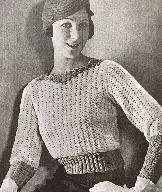 1930s swagger pull on jumper
