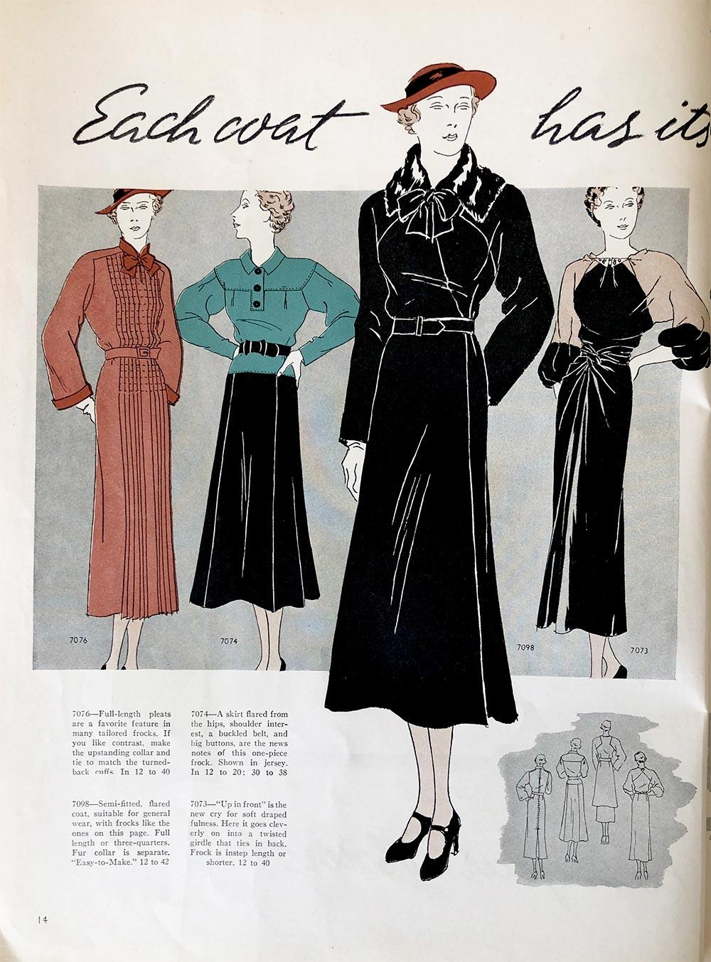 Vogue Pattern Book - Oct - Nov 1935