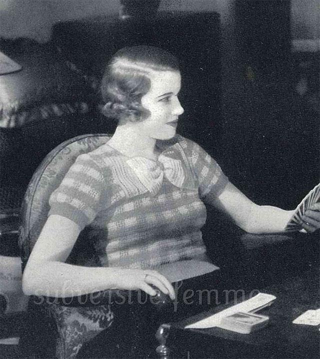 1930s gingham jumper crochet pattern