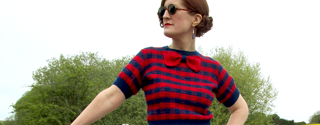 1930s gingham jumper in crochet