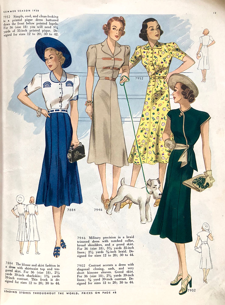 Butterick Sewing Pattern Book - Summer 1938 (Part 1