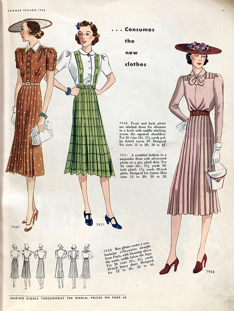 Butterick Sewing Pattern Book - Summer 1938 - Vintage Gal