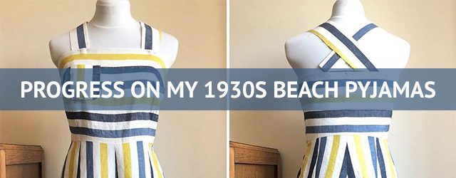 1930s beach pyjamas project
