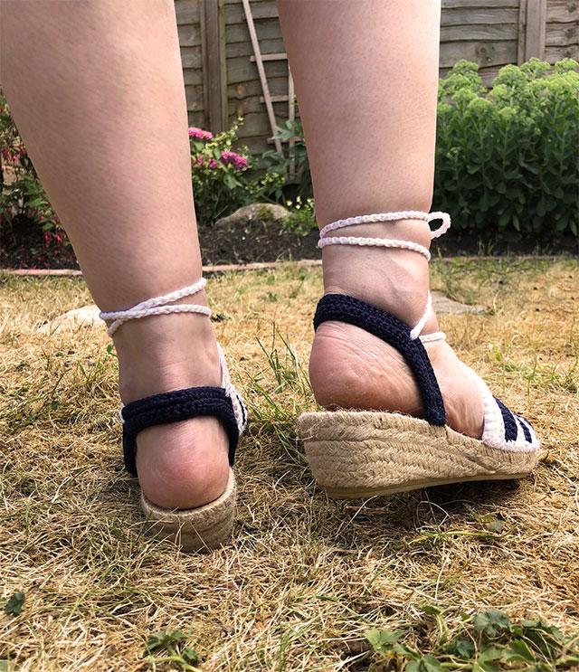 1930s crochet sandals