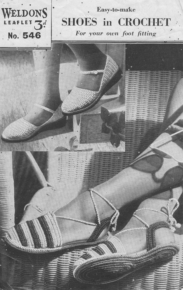 1930s crochet sandals pattern