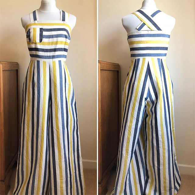 1930s striped beach pyjamas